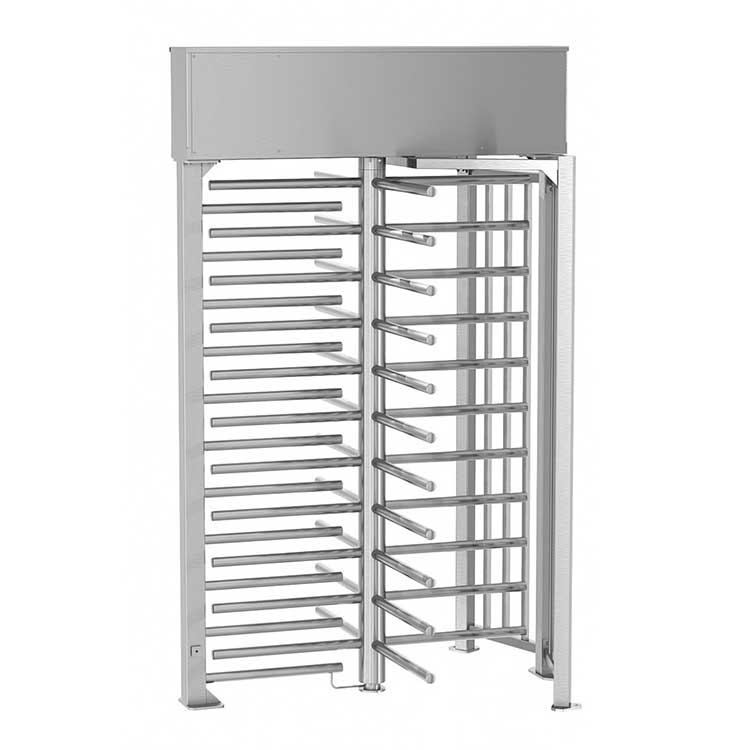 Single Full Height Turnstile with guide